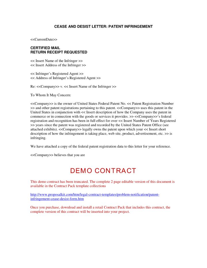 cease and desist template trademark 30 cease and desist letter