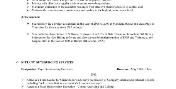 Bpo Resume For Fresher Bpo Resume Resume Template Bpo Resume ...