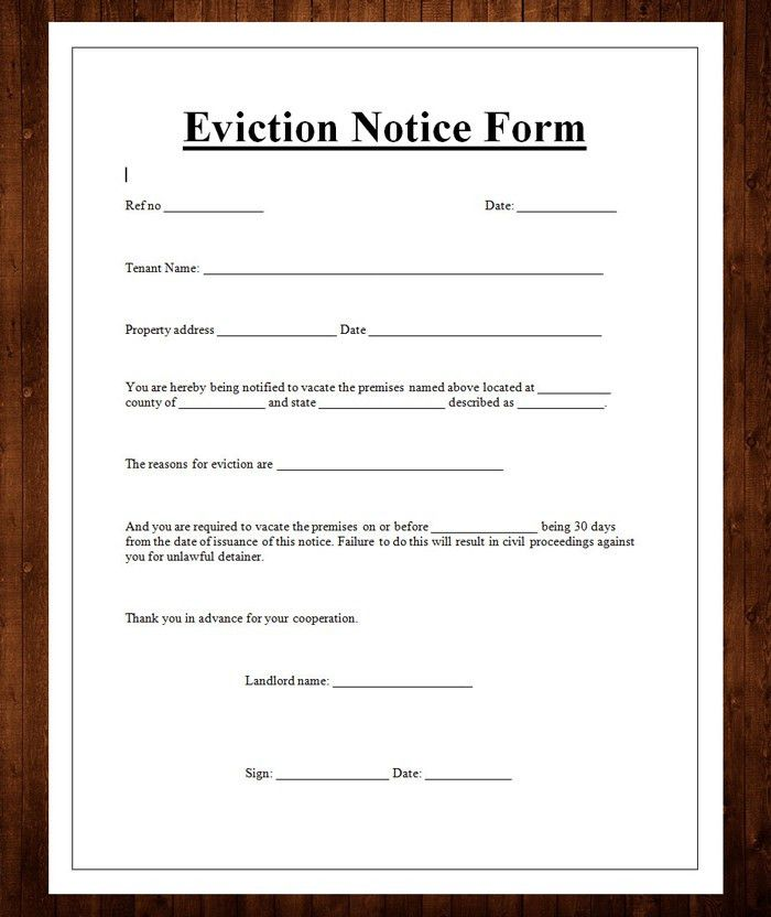 12 Free Eviction Notice Templates for Download - DesignYep