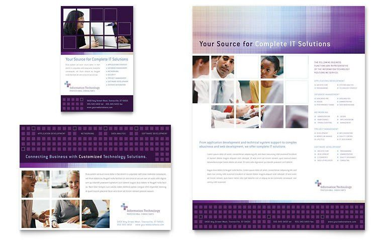 Information Technology Flyer & Ad Template - Word & Publisher