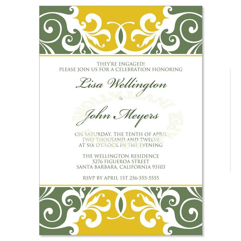 Yellow & Green Wedding Invitation Kit – Jordana Willow DIY ...