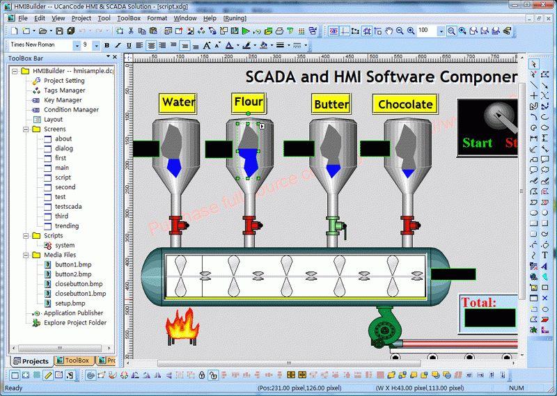 E-XD++ HMI-SCADA Graphics Visualization Source Code Solution For C ...