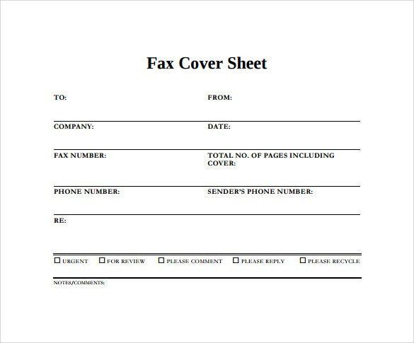 Blank Fax Cover Page Free Fax Cover Sheet Template Printable Fax – Sample Blank Fax Cover Sheet