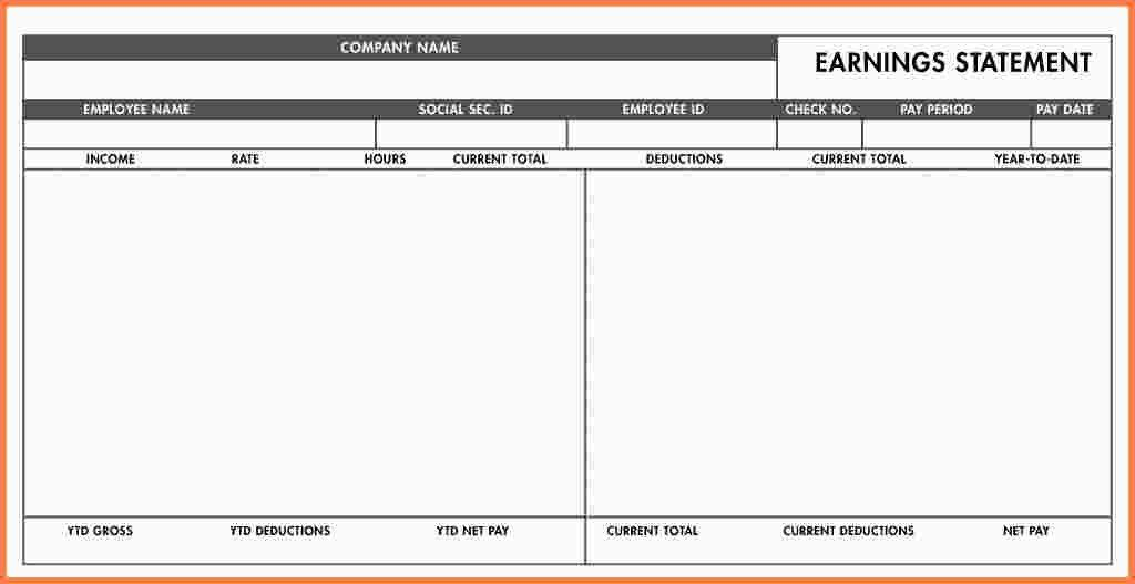 7+ free blank pay stub template | Samples of Paystubs