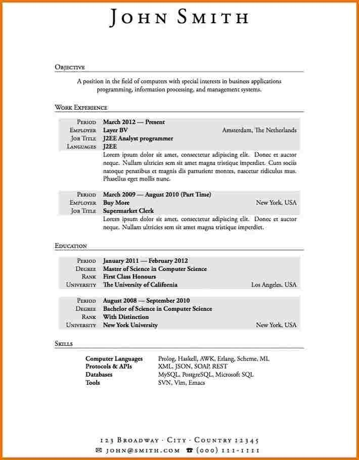 Resume Format Sample With No Work Experience Resume And Cover ...