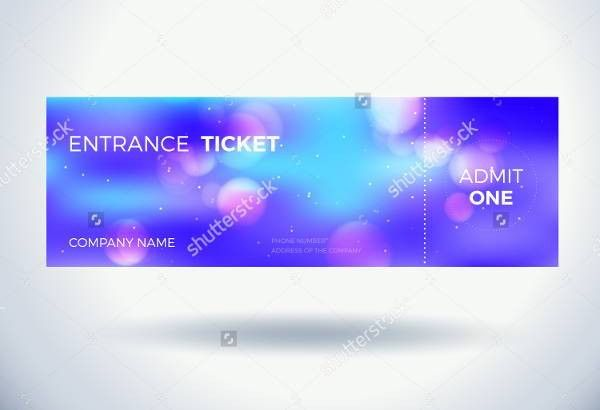 6+ Entrance Ticket Templates - Free PSD, AI, Vector EPS Format ...