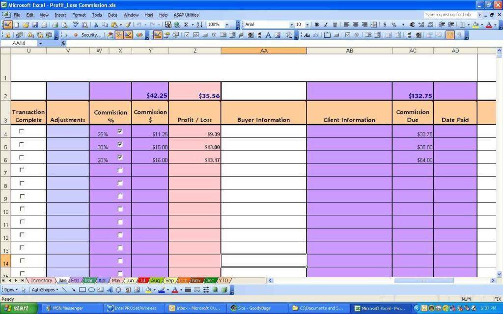 P&L Spreadsheet Template | HYNVYX