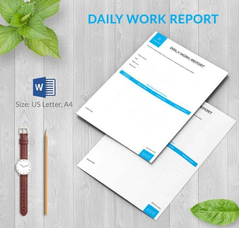 Report Word Template Papers And Reports Officecom 17 Business – Daily Report Template Word