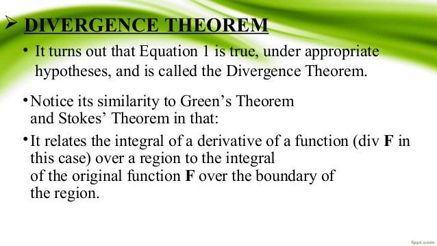 Divrgence theorem with example