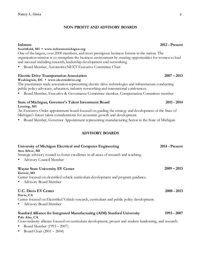 board of director resume directors sample letters board director ...