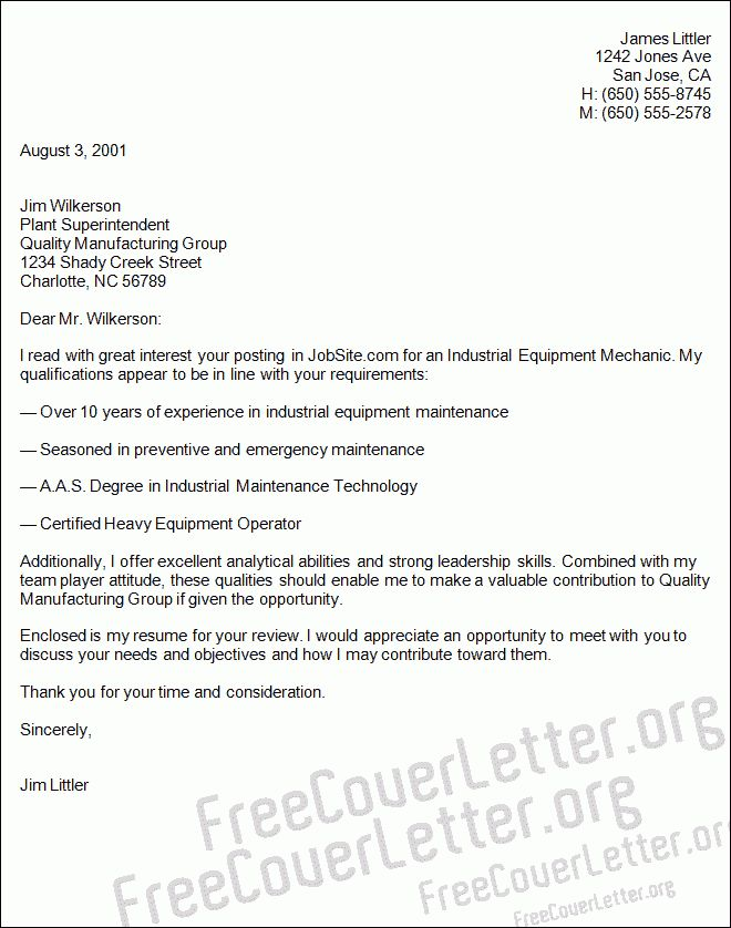 Unforgettable industrial maintenance mechanic resume examples to