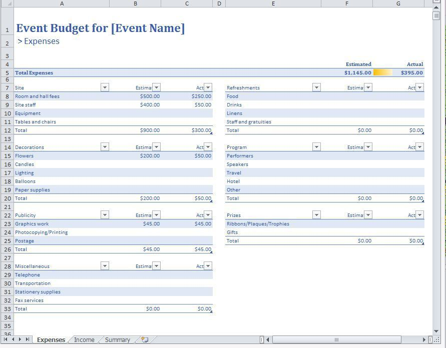 10 Best Images of Event Budget Planning Template - Event Planning ...