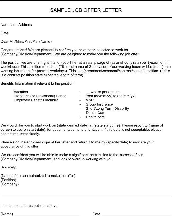 Sample Employment Cover Letter Template. A Cover Letter Layout ...