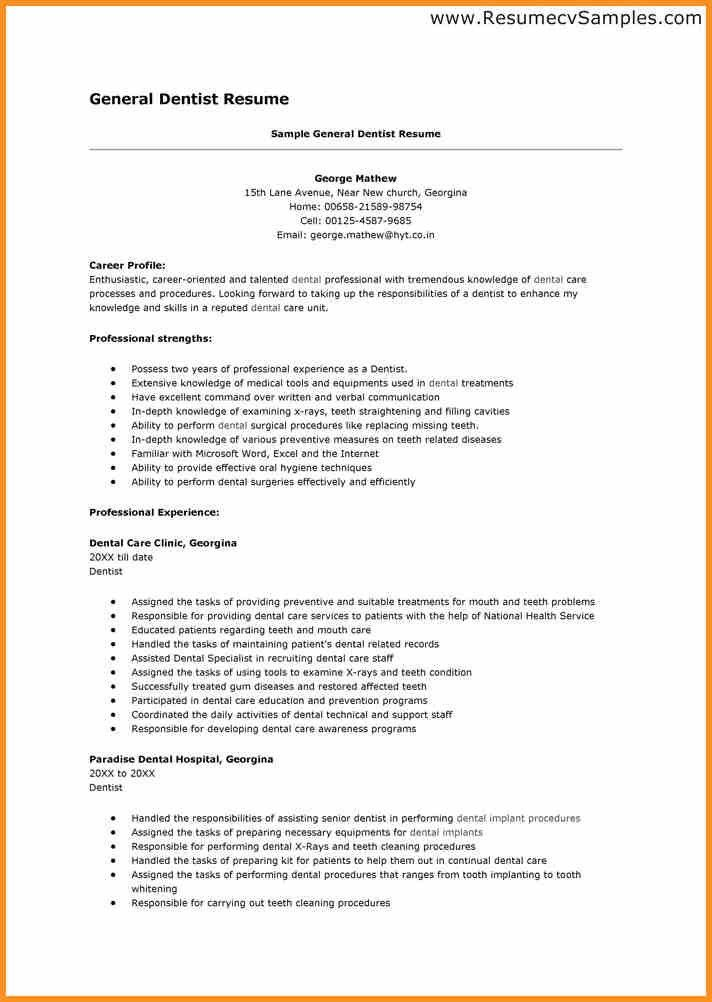 dentist resume sample. image result for dental resume. medical ...