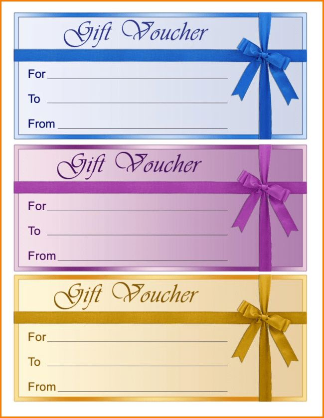 Free Printable Gift Voucher Template Samples with Three Color ...