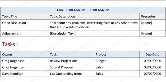Staff Meeting Agenda Template - Write an Effective Agenda