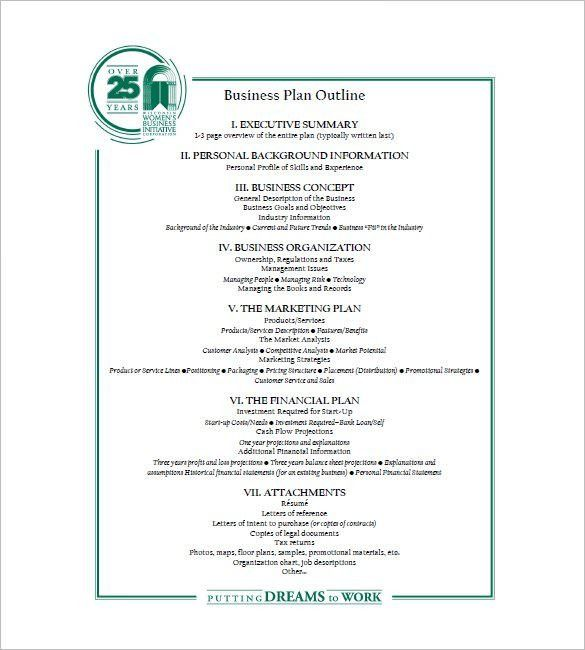 Business Plan Outline Template – 10+ Free Sample, Example, Format ...