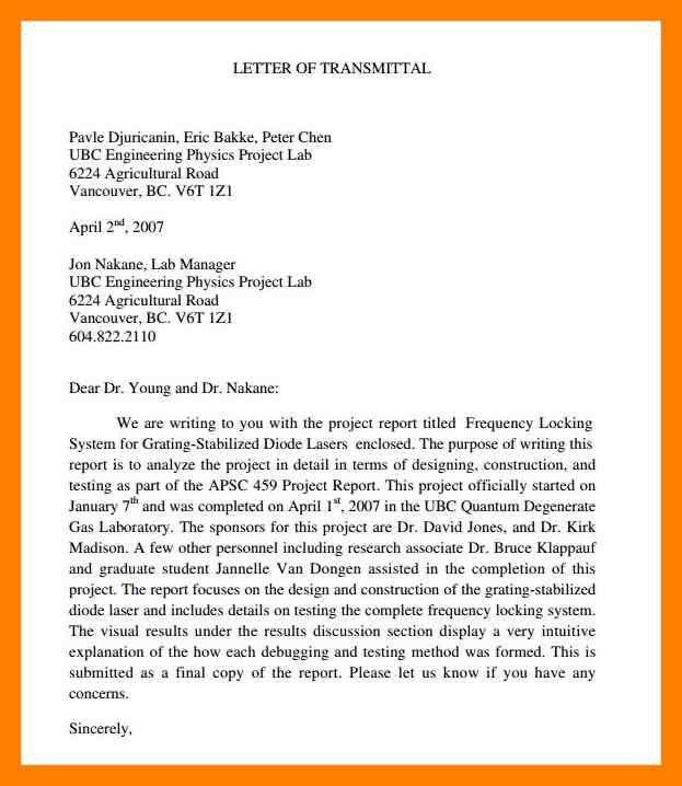 4+ letter of transmittal format   noc certificate