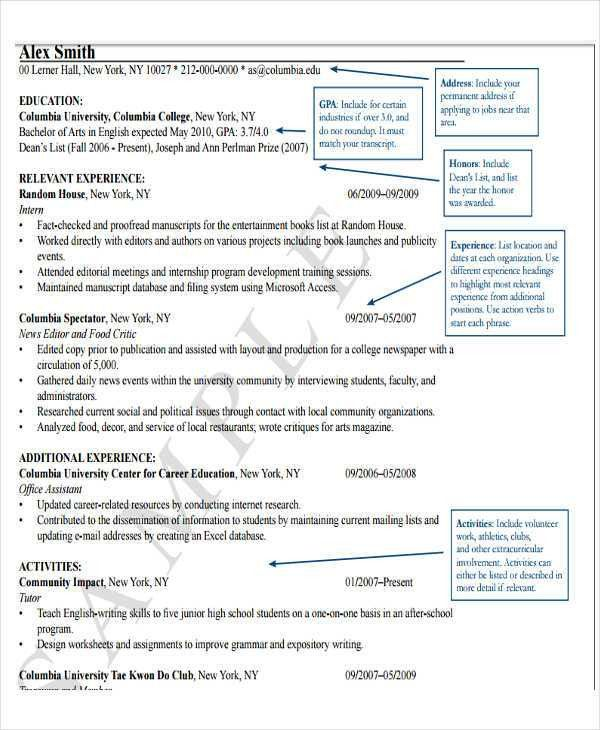 resume templates in pdf format