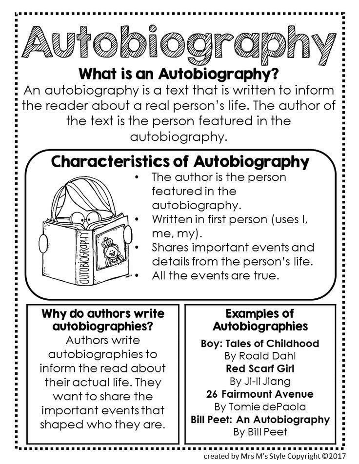 The 25+ best Autobiography writing ideas on Pinterest ...