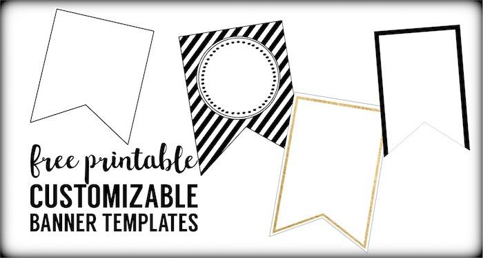 Free Printable Banner Templates {Blank Banners} - Paper Trail Design