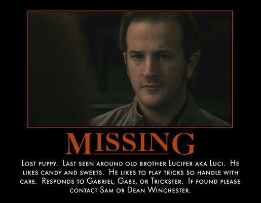 Missing Poster for Gabriel. | Archangel Gabriel (Supernatural ...