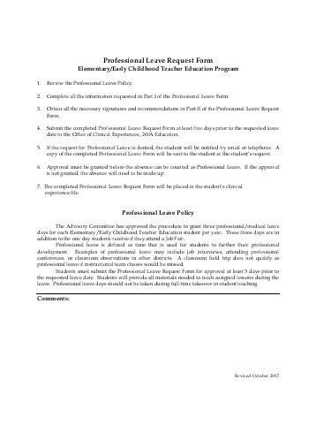 7 sample leave application forms sample example format
