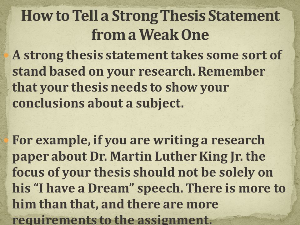 What is a THESIS STATEMENT? - ppt video online download