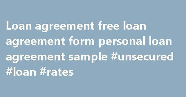 Loan agreement free loan agreement form personal loan agreement ...