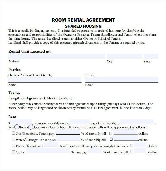Home Rental Agreements. Standard | Adobe Pdf | Word ( Doc) Free ...