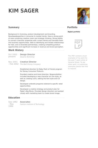 Design Director Resume samples - VisualCV resume samples database