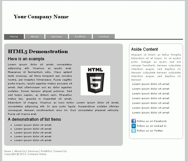 Basic html template free html website template download css and creating your first html5 template code pixelz pronofoot35fo Gallery