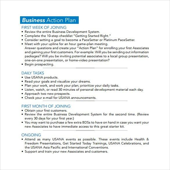 Sample Business Action Plan - 4+ Documents in Word, PDF