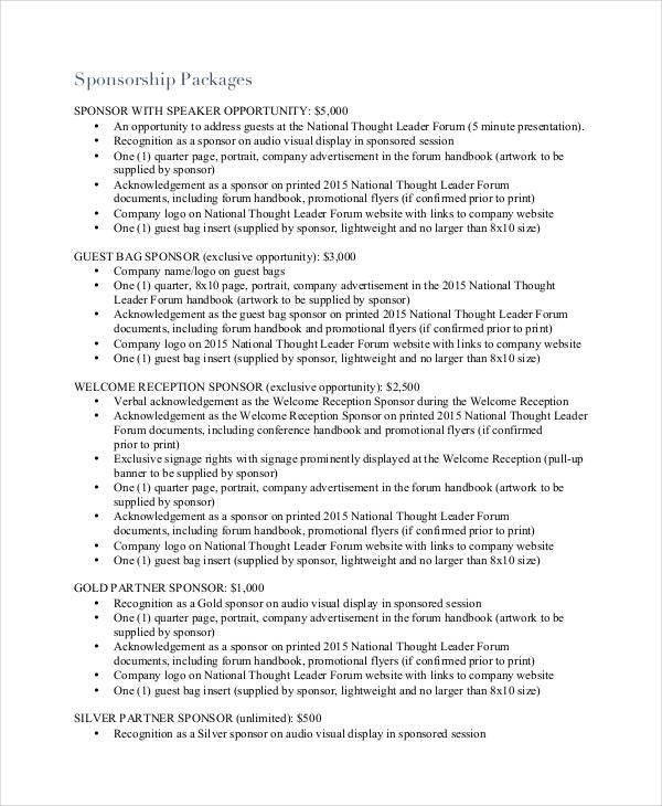 30+ Sponsorship Proposal Examples, Samples