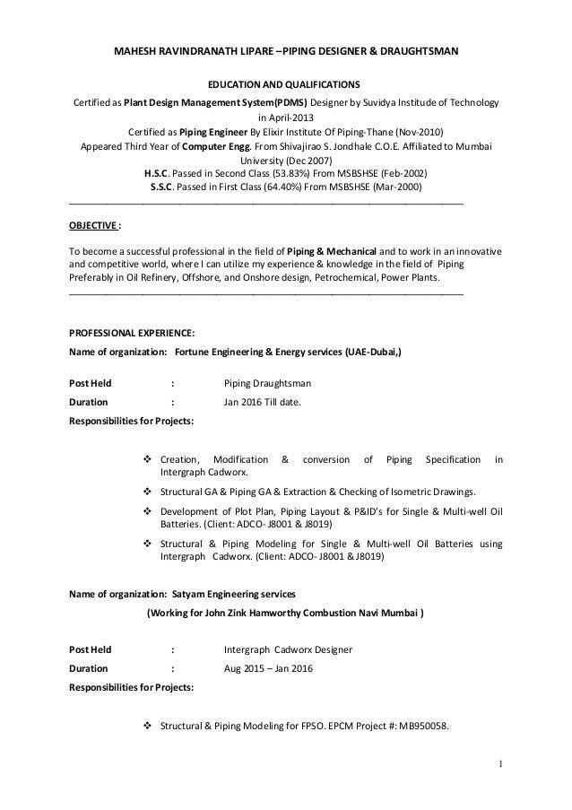Resume (Mahesh R Lipare)