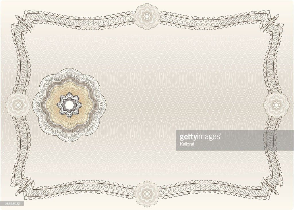 Blank Diploma Or Certificate Vector Art | Getty Images