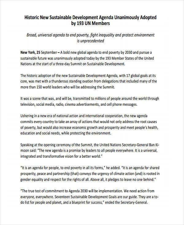 10+ Development Agenda Examples, Samples