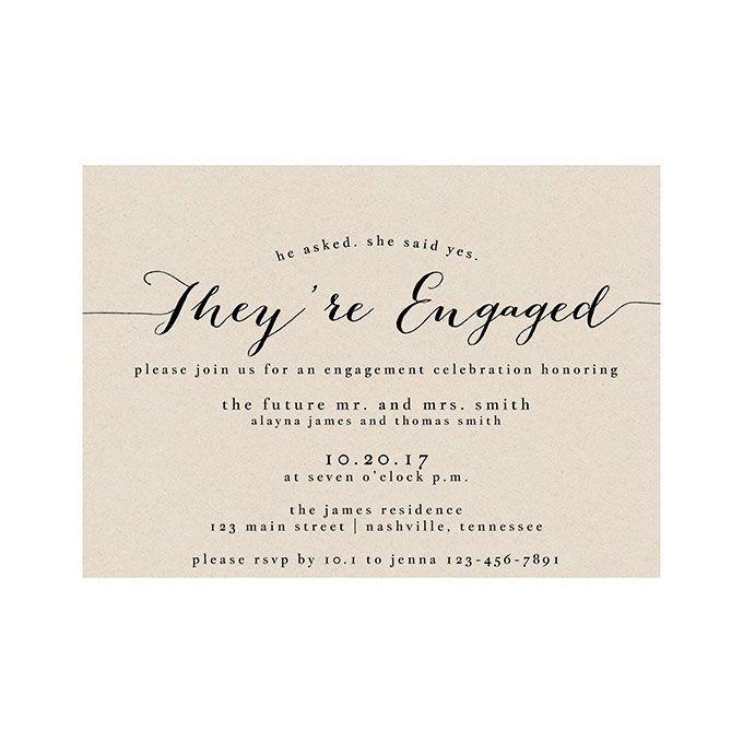 Engagement Party Invitations - marialonghi.Com