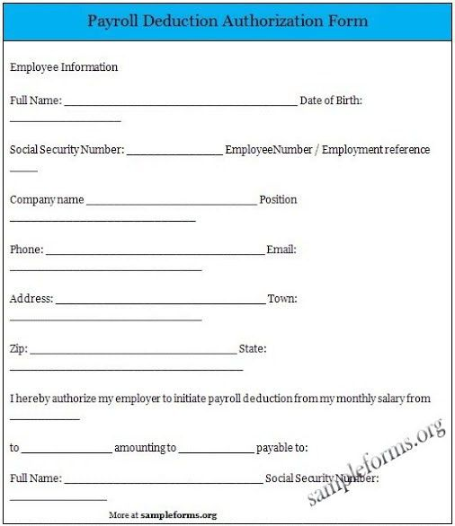 11 Best Photos of Free Payroll Deduction Authorization Form ...