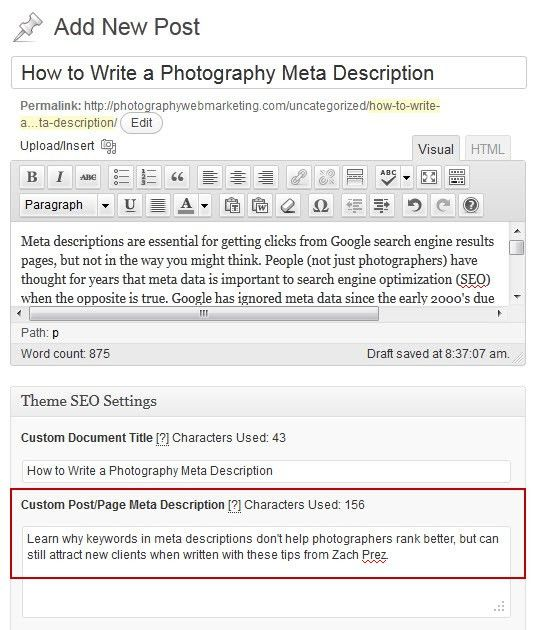 How to Write a Photography Meta Description - Photography Web ...