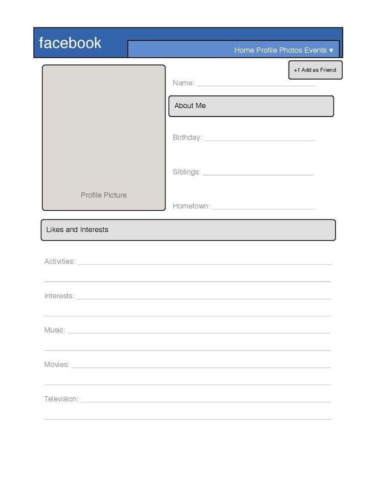 Die besten 25+ Facebook profile template Ideen auf Pinterest ...