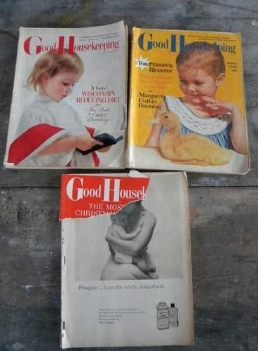 lot old 1950s Good Housekeeping magazines vintage graphics/advertising