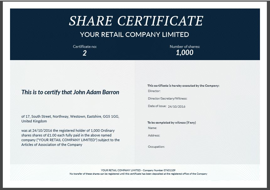 Uk share certificate template free share certificate template another inform direct product update october 2016 inform direct yadclub Choice Image