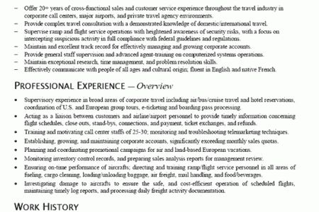 travel agent resume template. click here to download this travel ...