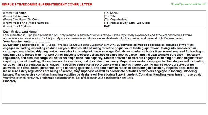 Stevedoring Superintendent Job Title Docs