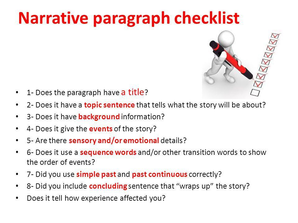 Narrative Paragraph Unit 6 - ppt video online download