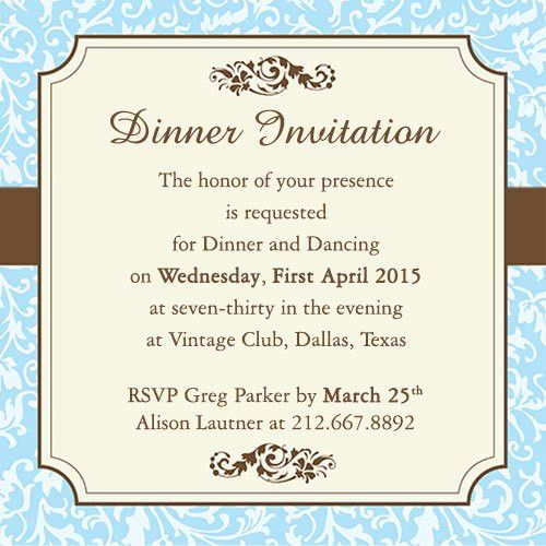 Outstanding Formal Dinner Party Invitation Template Given Luxury ...