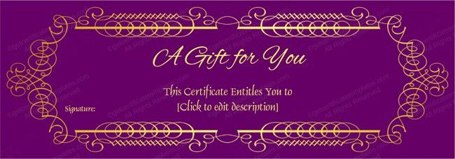 Gift Voucher Templates – Printable Gift Voucher Designs
