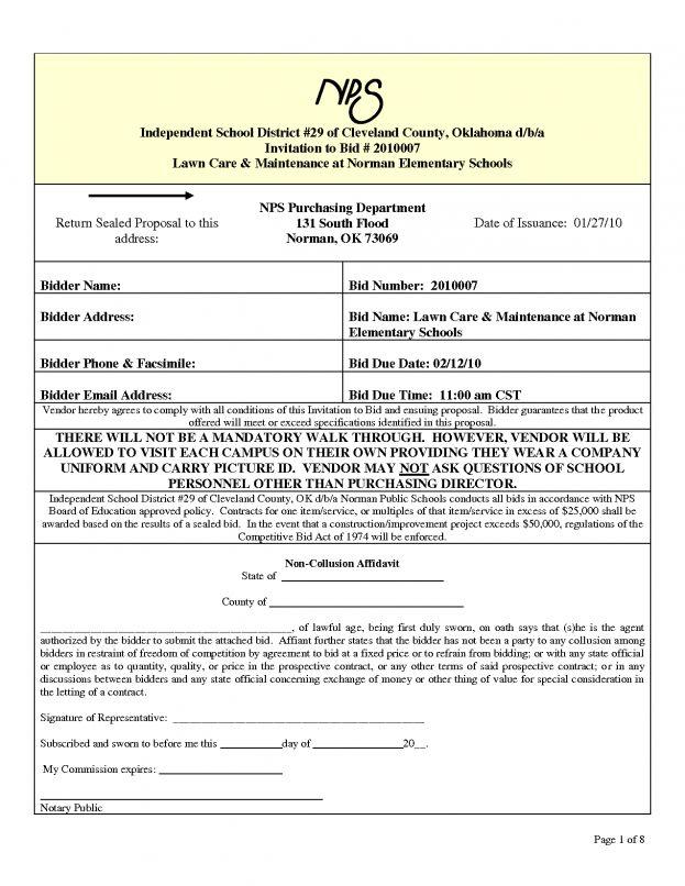 Bid Proposal Form Pinterest U2022 The Worldu002639s Catalog 10 ...