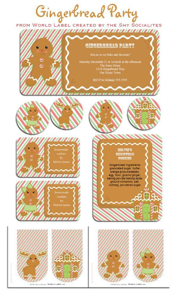 132 best Holiday Labels and Holiday Printable Templates images on ...
